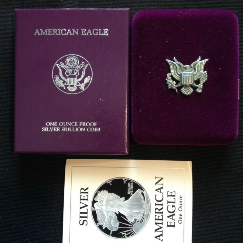 2001-W Proof 1oz American Silver Eagle Dollar Coin w// Box /& COA MINT PERFECT