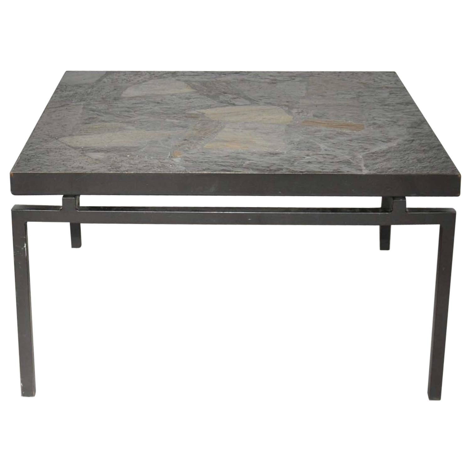 Mid Century Brutalist Stone Mosaic Coffee Table the Netherlands