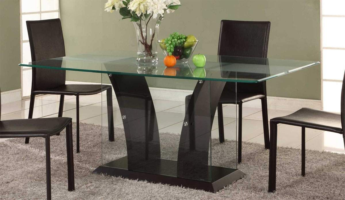 Modern glass dining table designs -