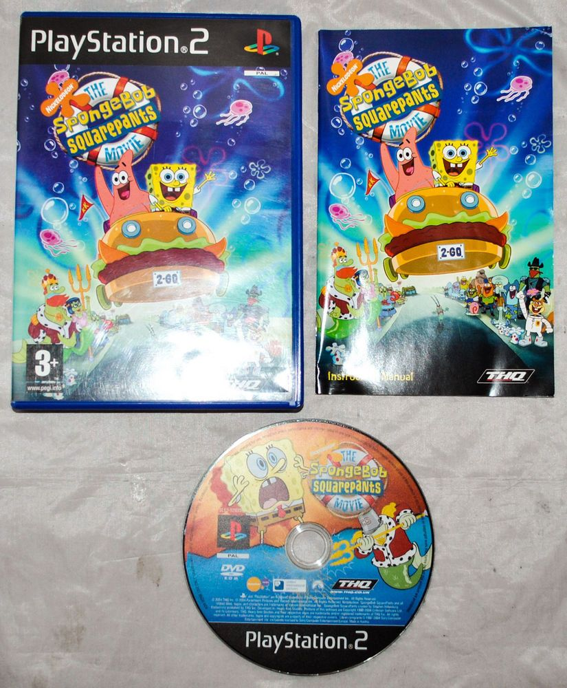 playstation 2 ps2 game the spongebob squarepants movie