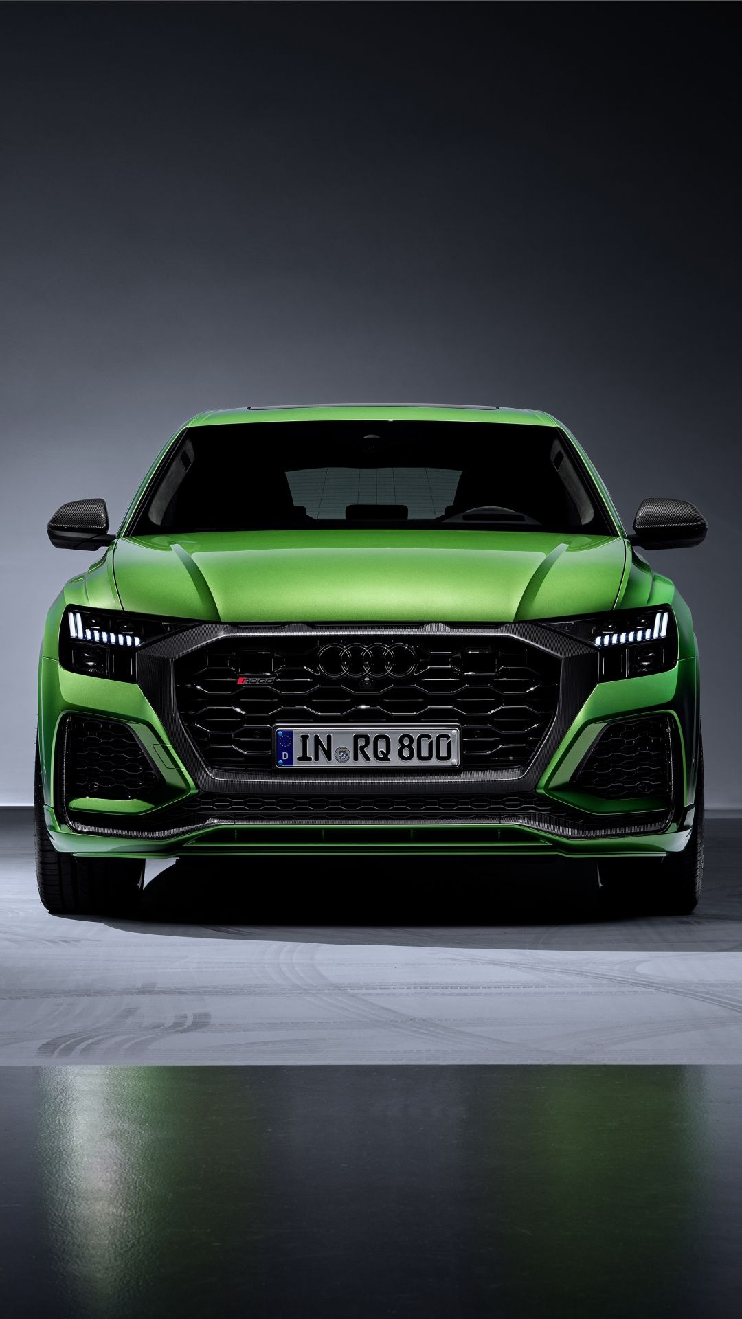 1080x1920 Front View Green Audi Q8 Wallpaper Audi Car
