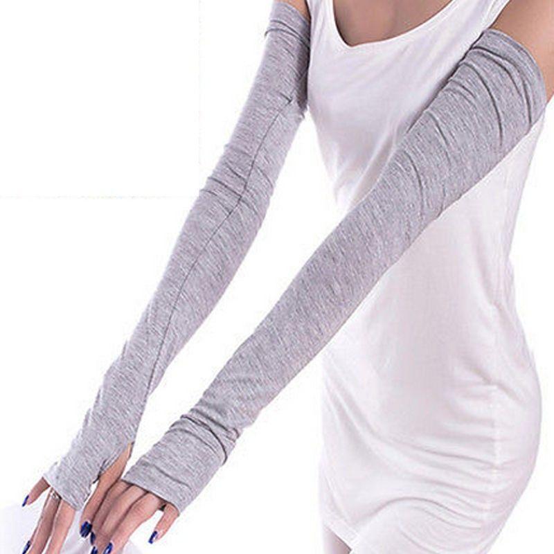 Women Cotton Fingerless Sun Protection Driving Cover Long Gloves Arm Warmer  Mittens 1x - TakoFashion - Women's Clothing & Fashion online shop   Long  gloves, Fashion, Sleeves clothing