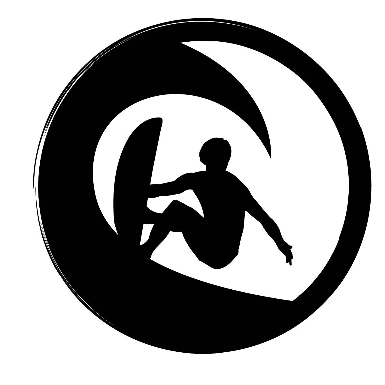 Jib Hunt Surfing Silhouette Vector Silhouettes Surf Logo