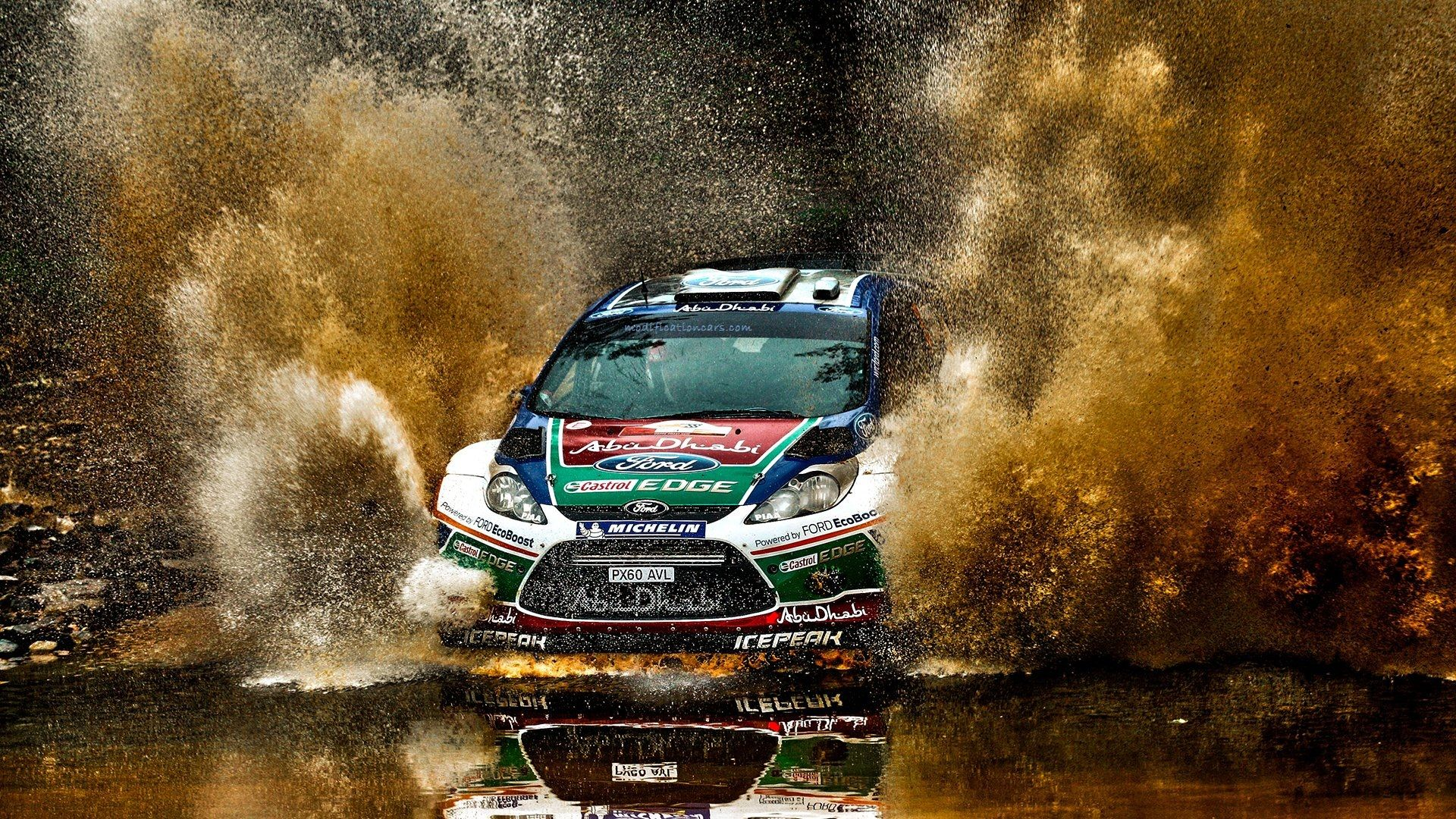 Modified Ford Fiesta Rally Splash Racing HD Wallpaper