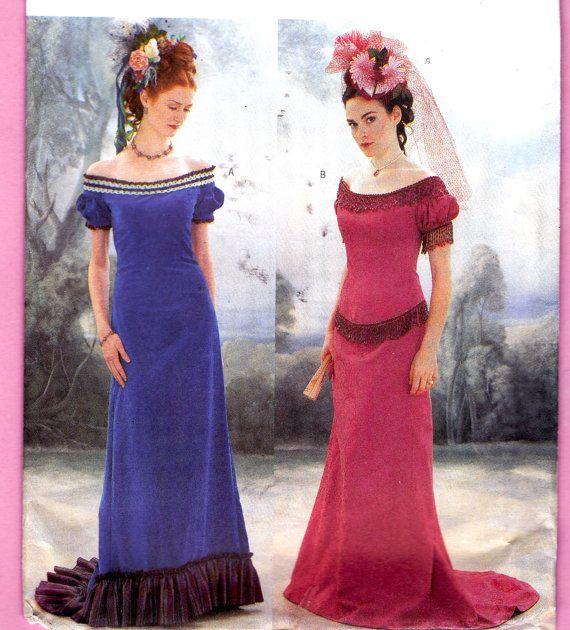 Butterick 3011 Titanic Victorian Ball Gowns/ Dress w/ Fishtail Train ...
