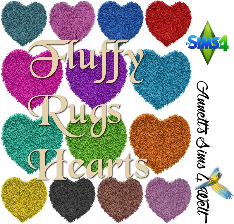 Fluffy Rugs Hearts Fluffy Rug Sims Rugs