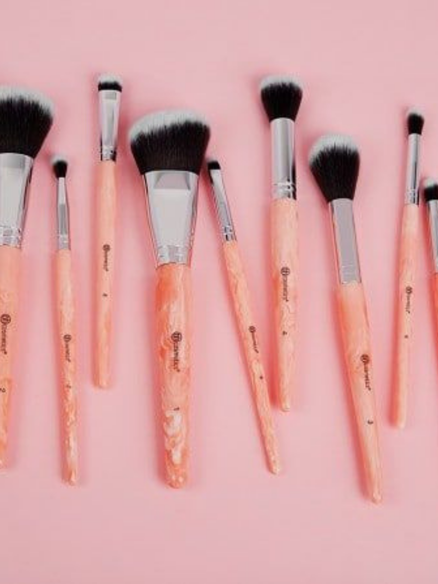 Rose Quartz 9 Piece Brush Set affiliate brushset