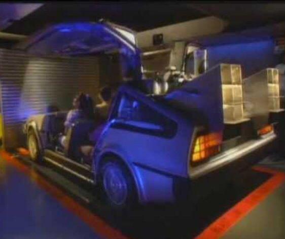 Back To The Future Ride 8 Passenger Delorean Cart Ride