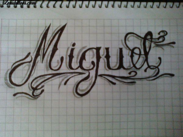 Diseno De Nombres Letras Miguel Zonatattoos Com Disenos De Unas Plantillas De Tatuajes Disenos De Unas
