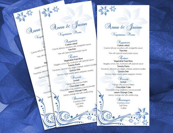 DIY Printable Wedding Menu Microsoft Word Template Editable - ms word menu template