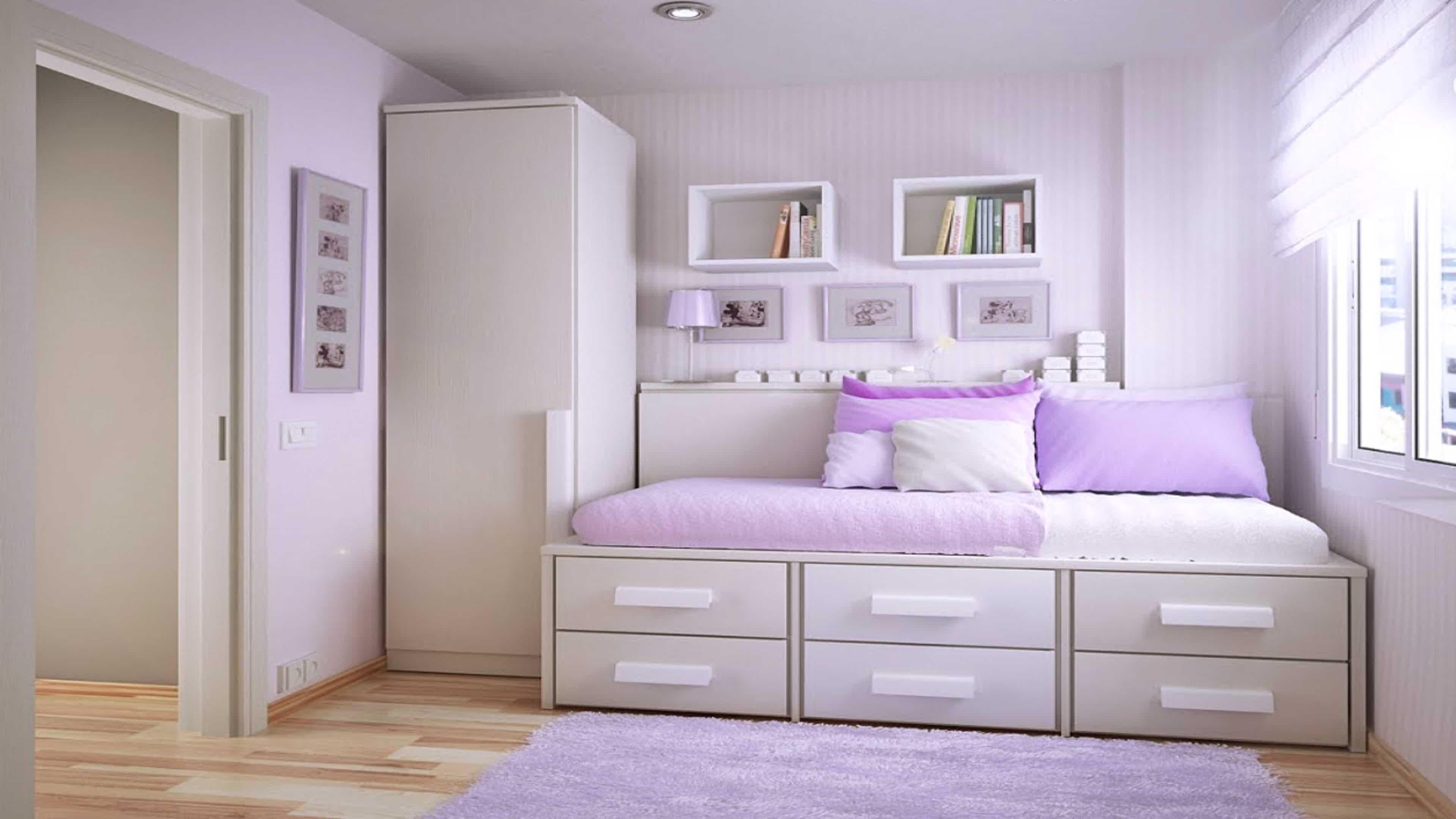 simple bedroom design for teenage girl  HOME DESIGN