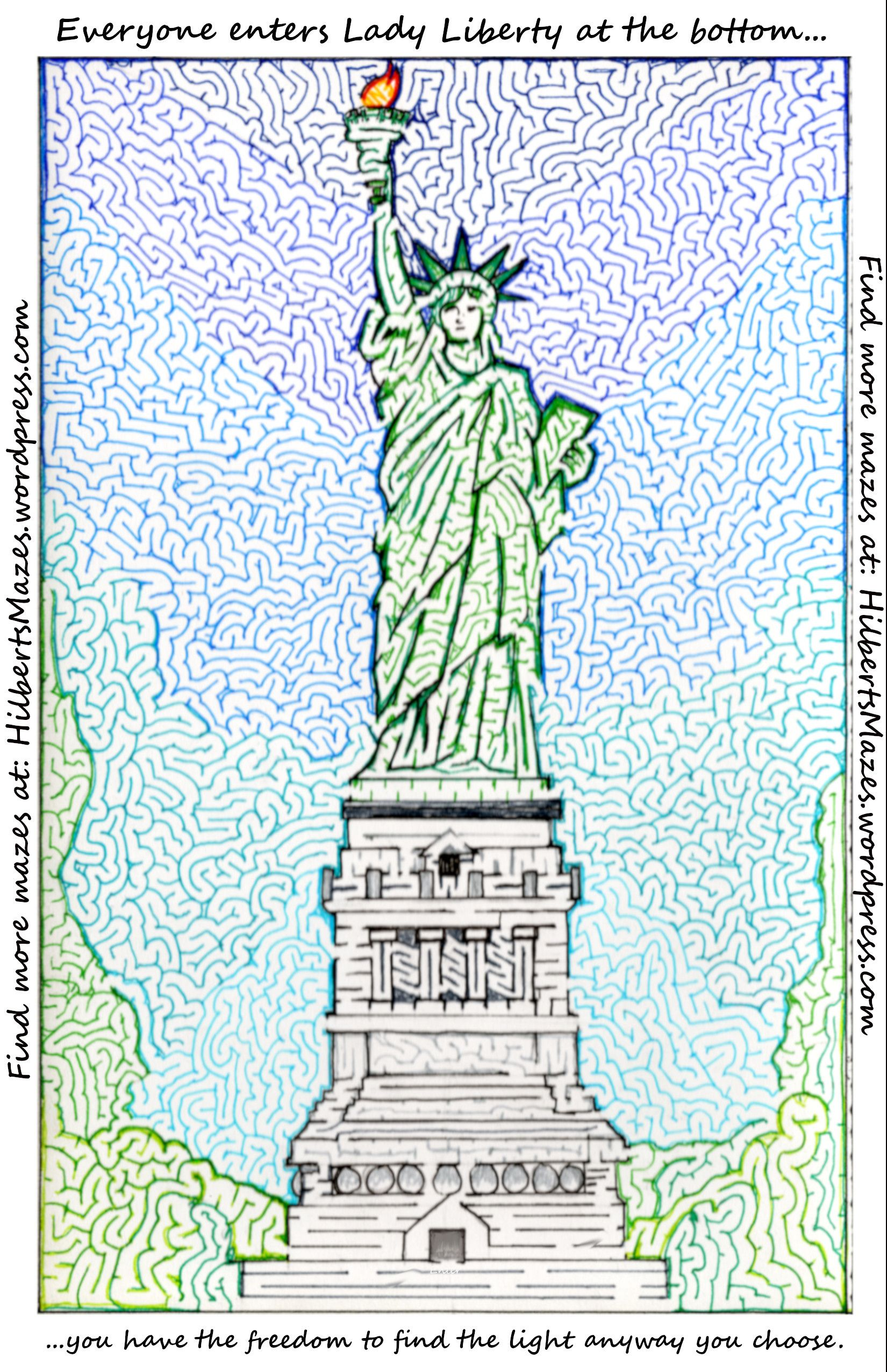 Statue Of Liberty Maze With Images