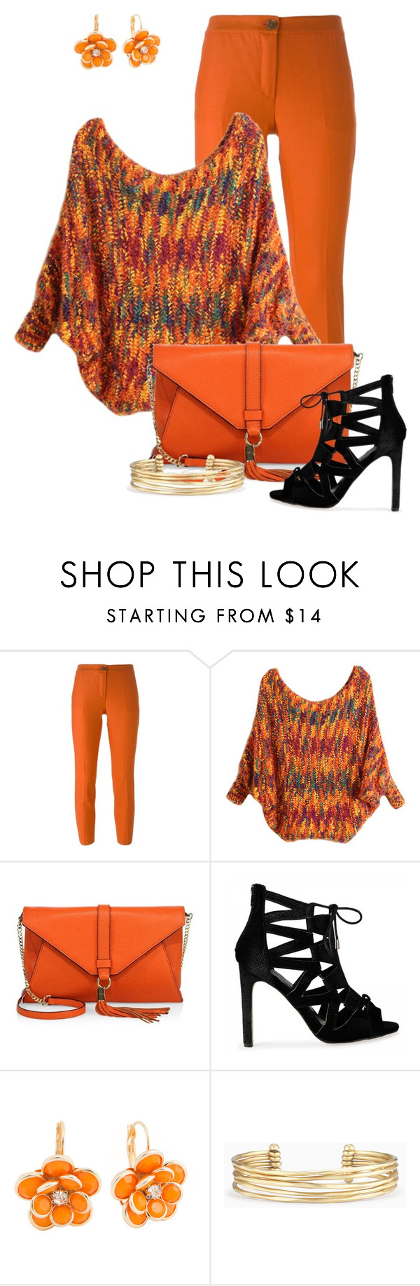 """""""The Big Orange"""" by scandalicious ❤ liked on Polyvore featuring Erika Cavallini Semi-Couture, Milly, Mixit and Stella & Dot"""