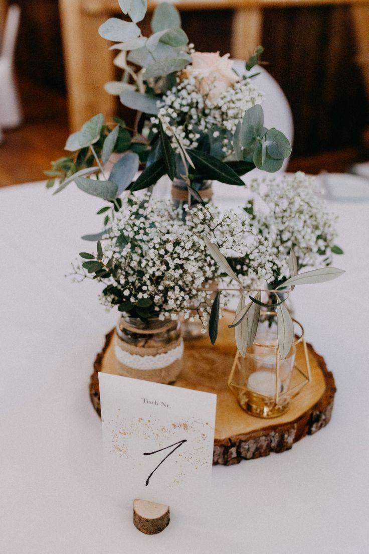 Tischdeko Hochzeit, wedding decoration, diy, vintage, boho, #weddingideas, #vintagewedding #greenery – Hochzeitskleid