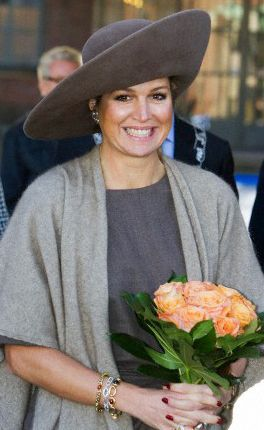 Queen Máxima, February 12, 2014 in Fabienne Delvigne    The Royal Hats Blog