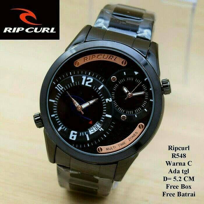 Jam Tangan pria RipCurl Rp 215.000 Kualitas Super Date On Dual Time D 5.2 Cm 33bb72eca1