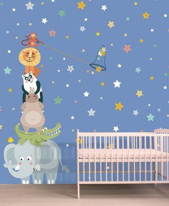 Gli Amici della Savana Baby Interior Design Wallpaper