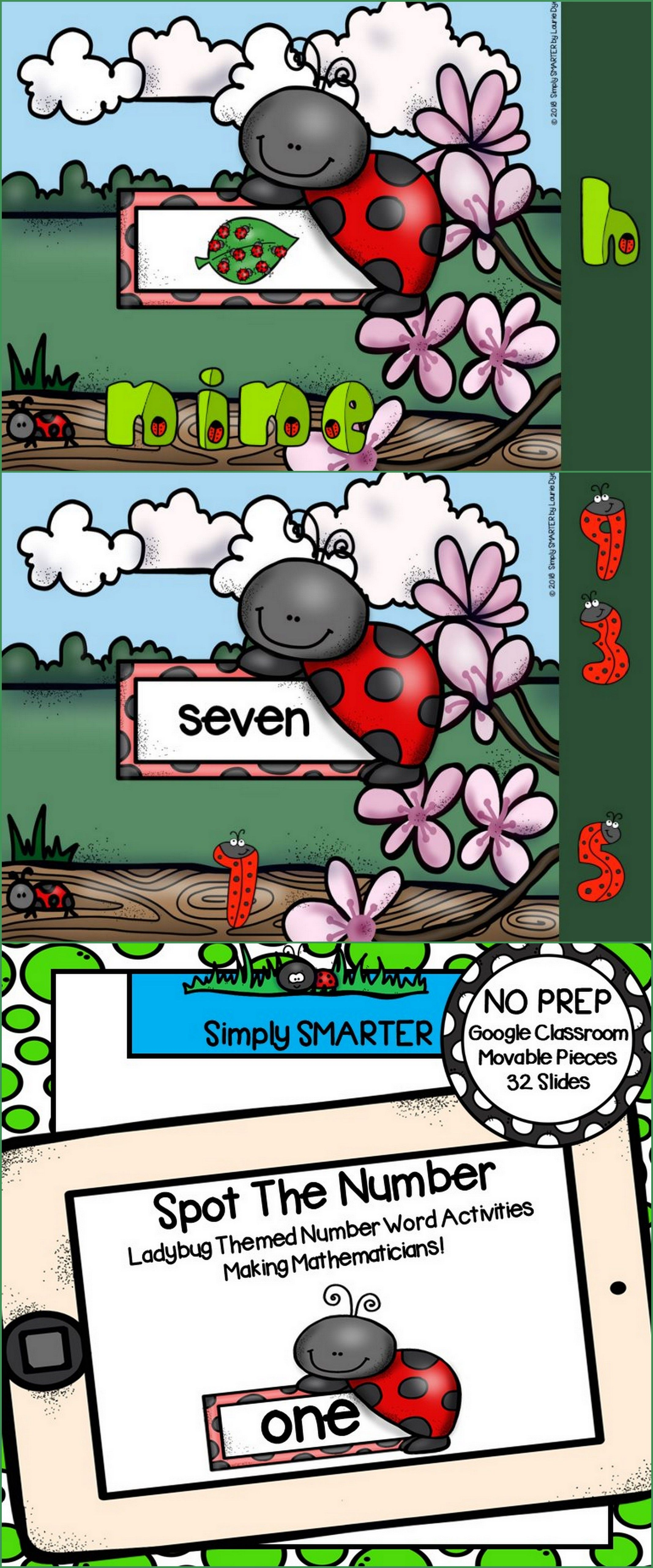 Ladybug Themed Number Word And Counting Activities For