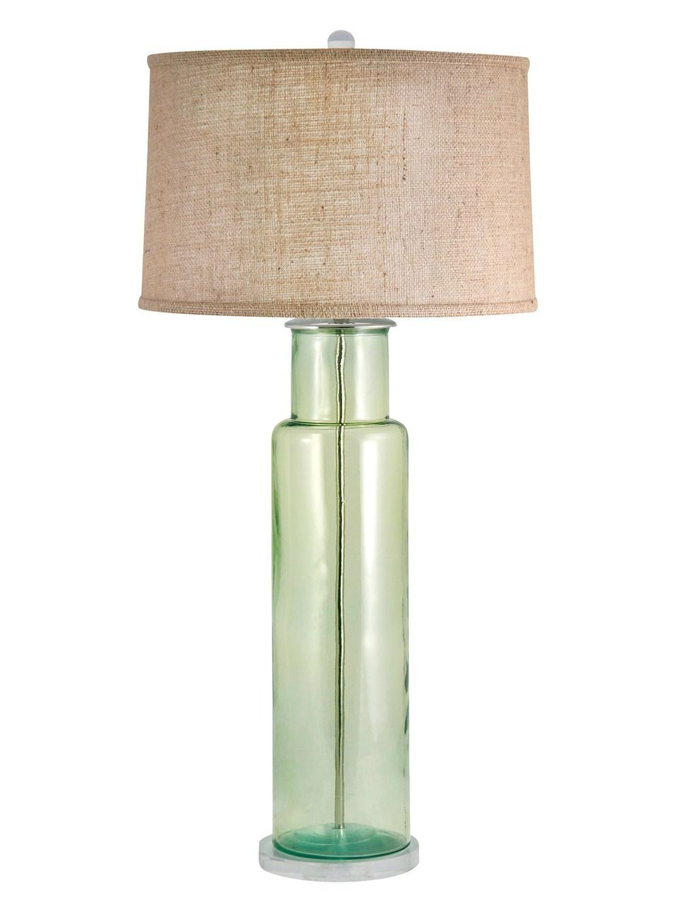 Glass Buoy Table Lamp In Light Green