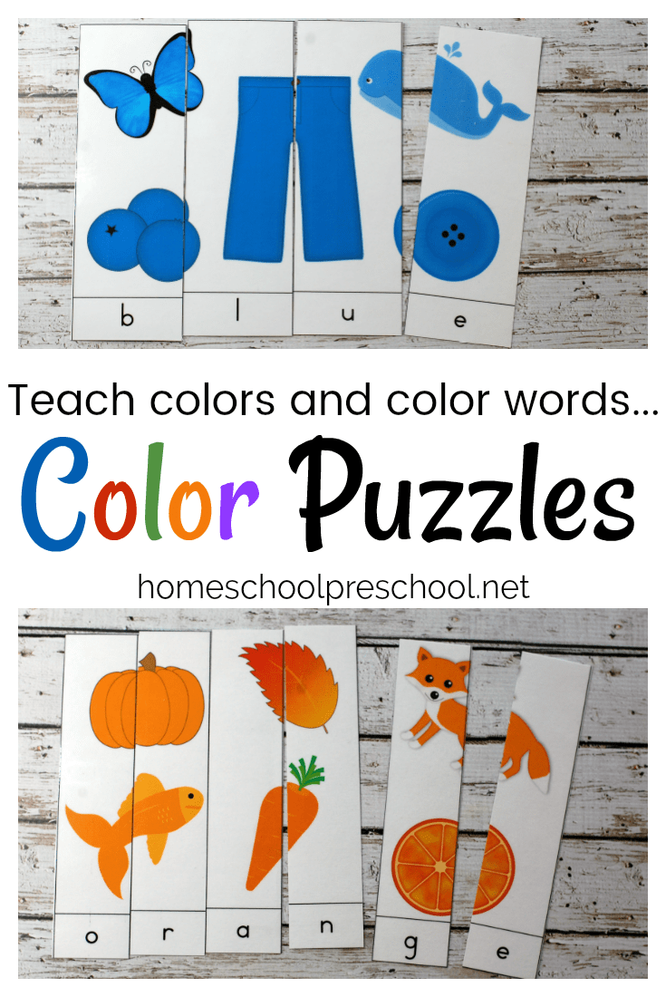 10 Color Word Puzzles for Early Learners | Kind und Gärten