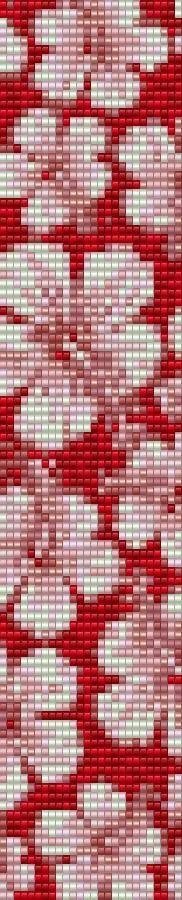 Loom Bracelet Beading Pattern Hibiscus Hibiscus Pinterest