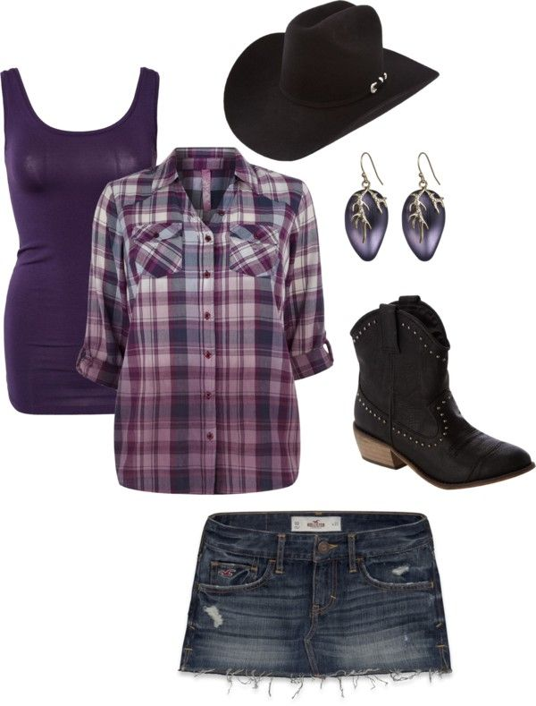 """""""purple cowgirl"""" by candace-cook-cushman on Polyvore"""