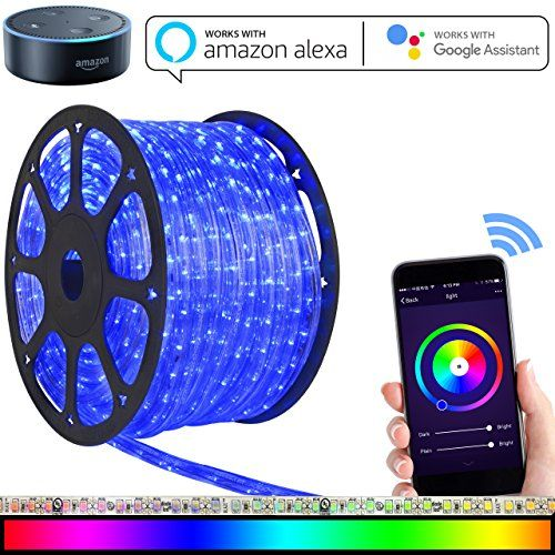 Led strip lights works with alexa maxonar wifi led light strip kit led strip lights works with alexa maxonar wifi led light strip kit with rgb multicolor waterproof ip65 strip light wireless smart phone controlled diy kit aloadofball Gallery