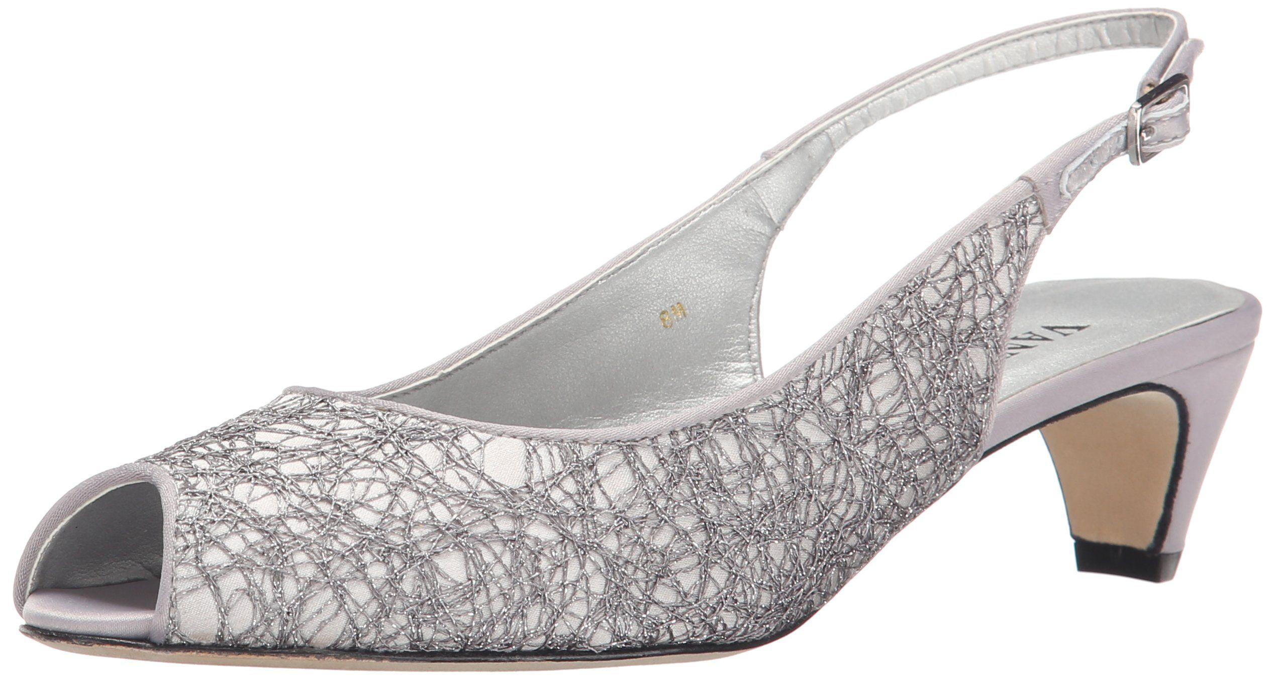Womens Shoes Vaneli Baylen Silver Assy Fabric/Matching Satin