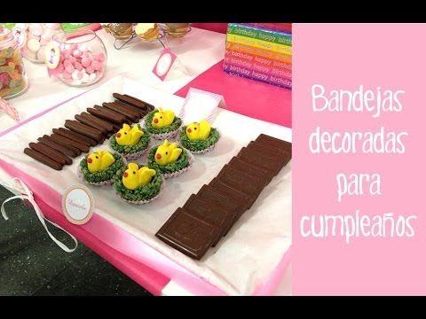 Bandejas decoradas para cumplea os decoraci n fiestas - Decoracion fiesta de cumpleanos infantil ...
