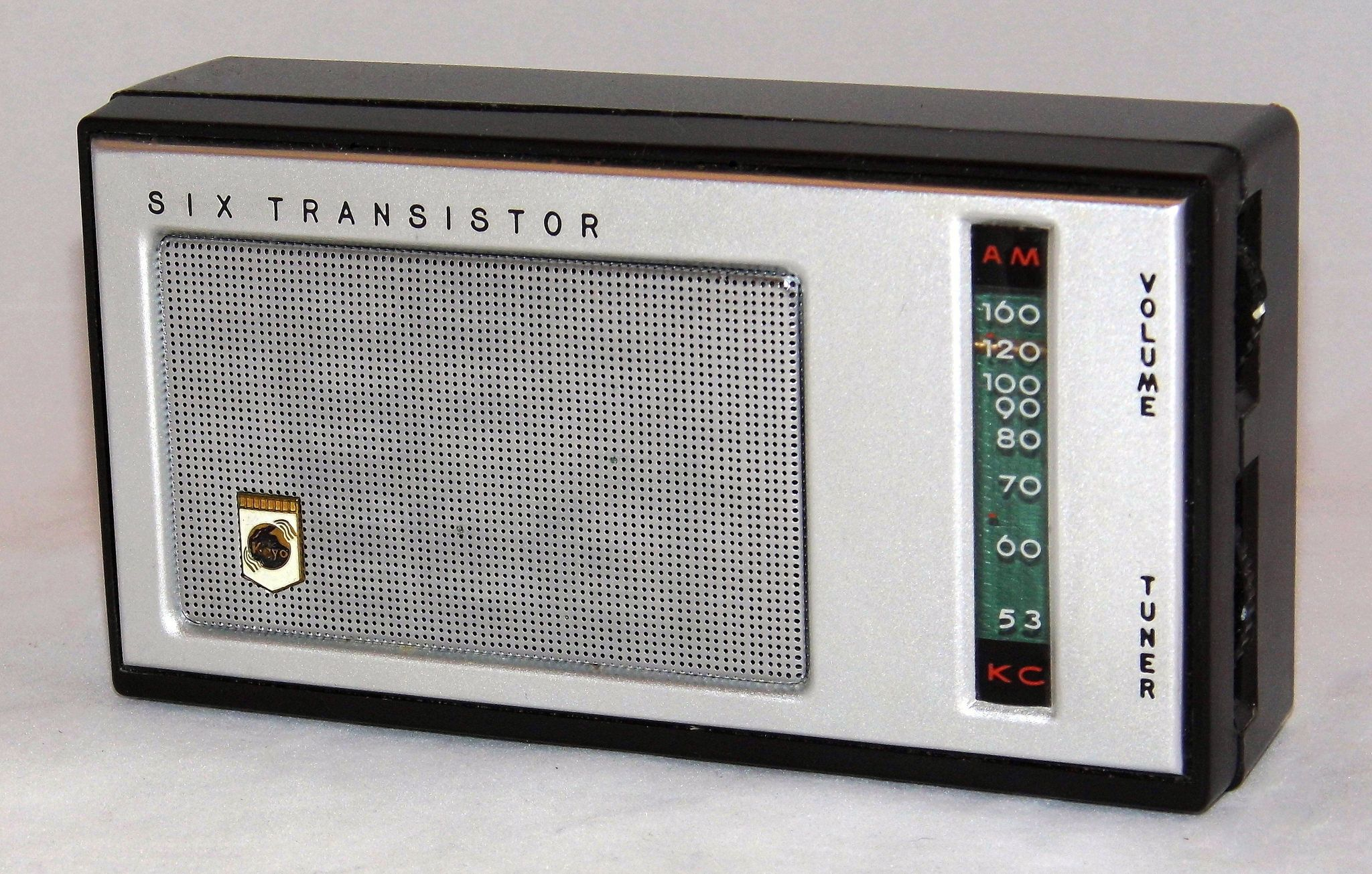 Vintage Koyo 6-Transistor AM Radio, Model AM-62, Made In Japan