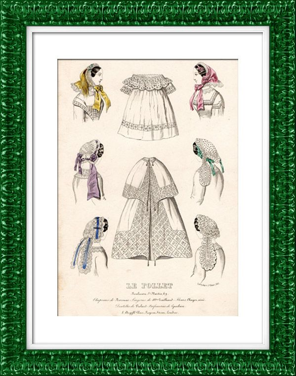 Französische Modedrucke - 19. Jahrhundert - 1850 - Lingerie - Dessous - Le Follet