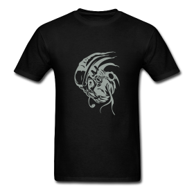 Cyber Alien Skulls T-Shirt #Tshirt #CyberAlien #Alien #Scifi #Aliens #Extraterrestrial  Classic-cut standard weight t-shirt for men, 100% pre-shrunk cotton, Brand: Gildan