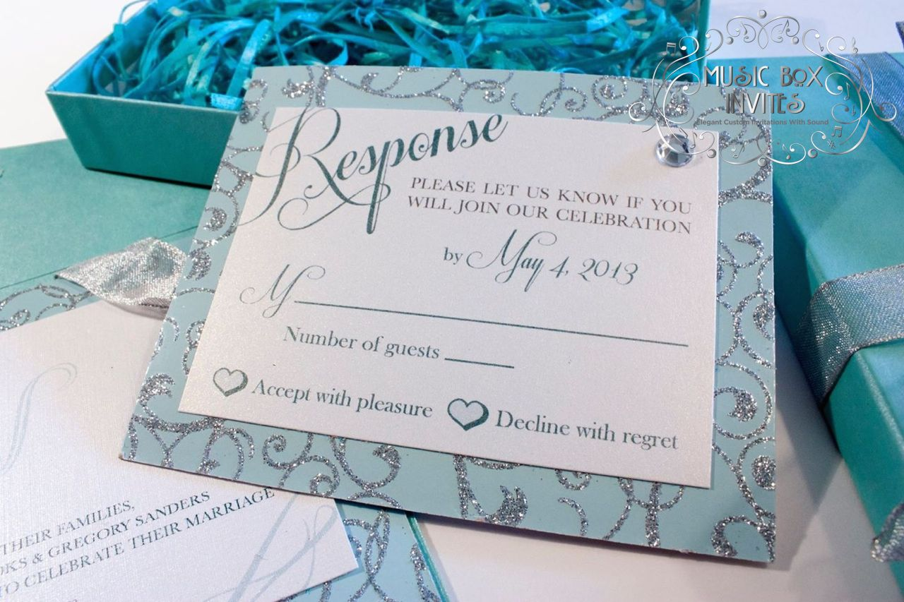 Tiffany and Co. Blue Musical Singing Wedding Invitation with RSVP ...
