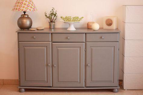 repeindre meuble en bois avec peinture Casto Gris gris 2 Meubles - Comment Repeindre Un Meuble En Bois Vernis