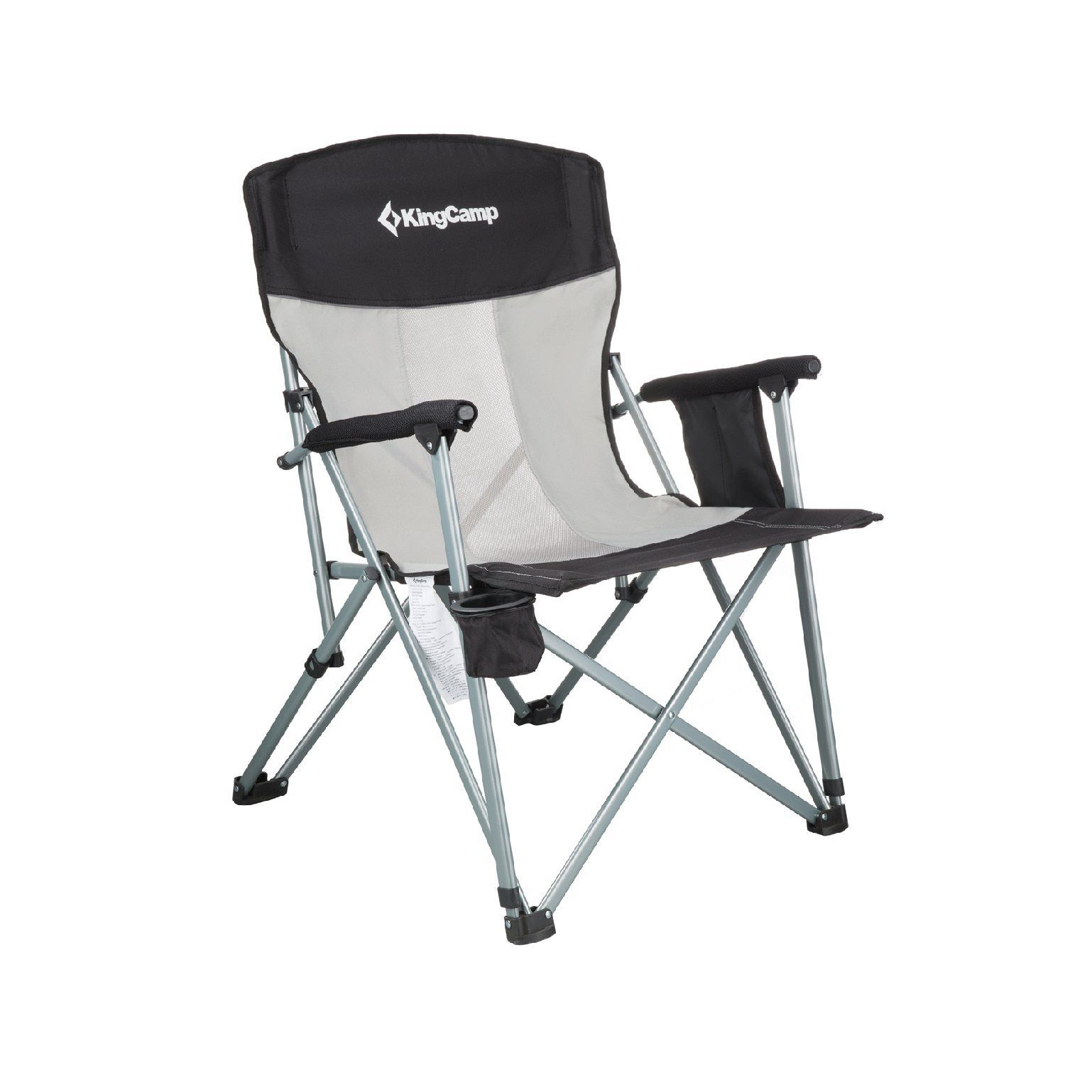 KingCamp Folding Chair Mesh Back with Cup