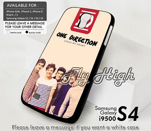 One Direction Stole My Hearth Design For Samsung Galaxy S4 Case