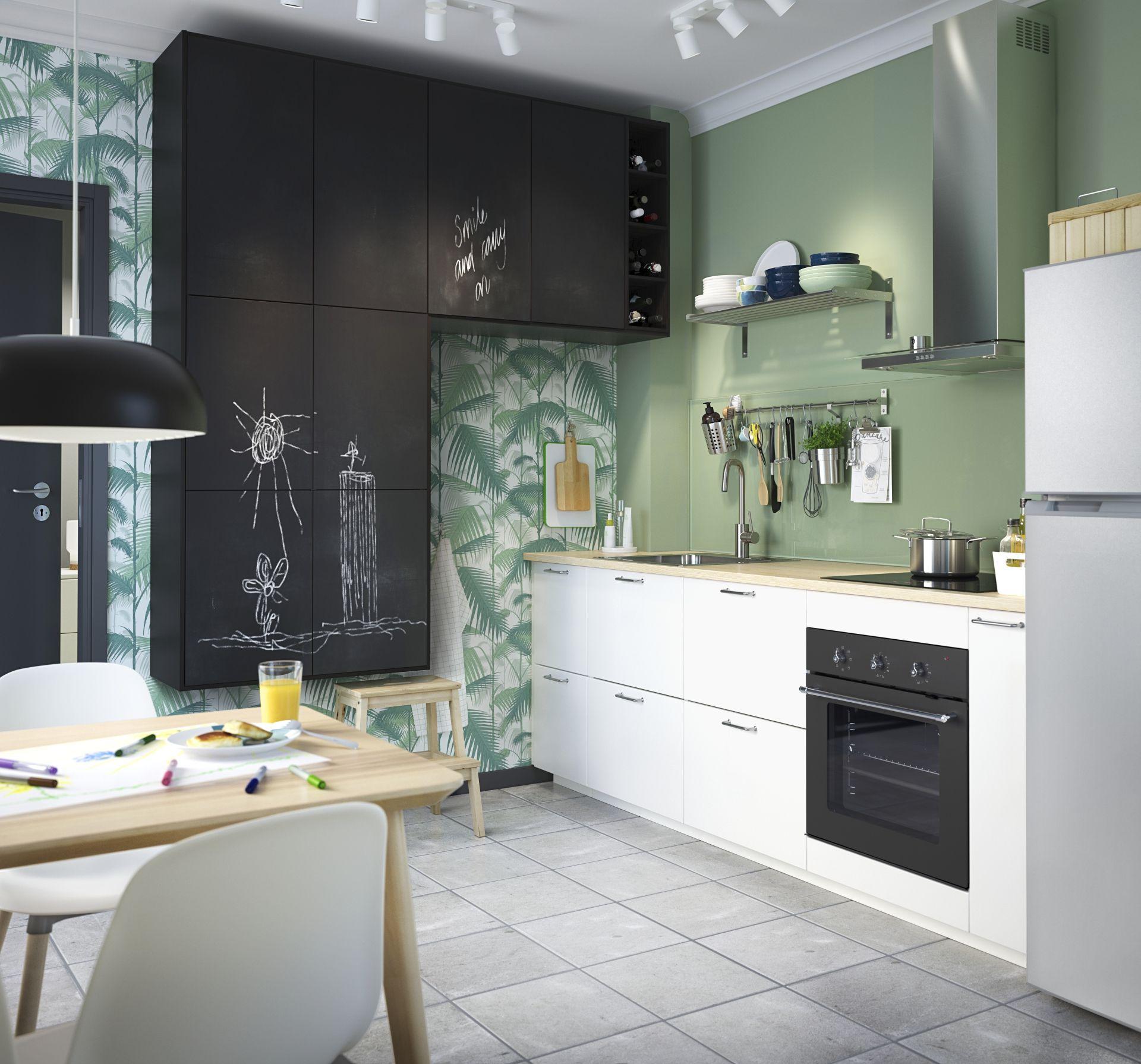 Veddinge Ladefront Grijs Kitchen Ikea Keuken Rvs Keuken En Ikea