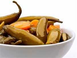 Picture of How to Make Chiles Jalapenos in Escabeche or pickled Recipe and Tips- Item No.577-chiles-in-escabeche-or-pickled