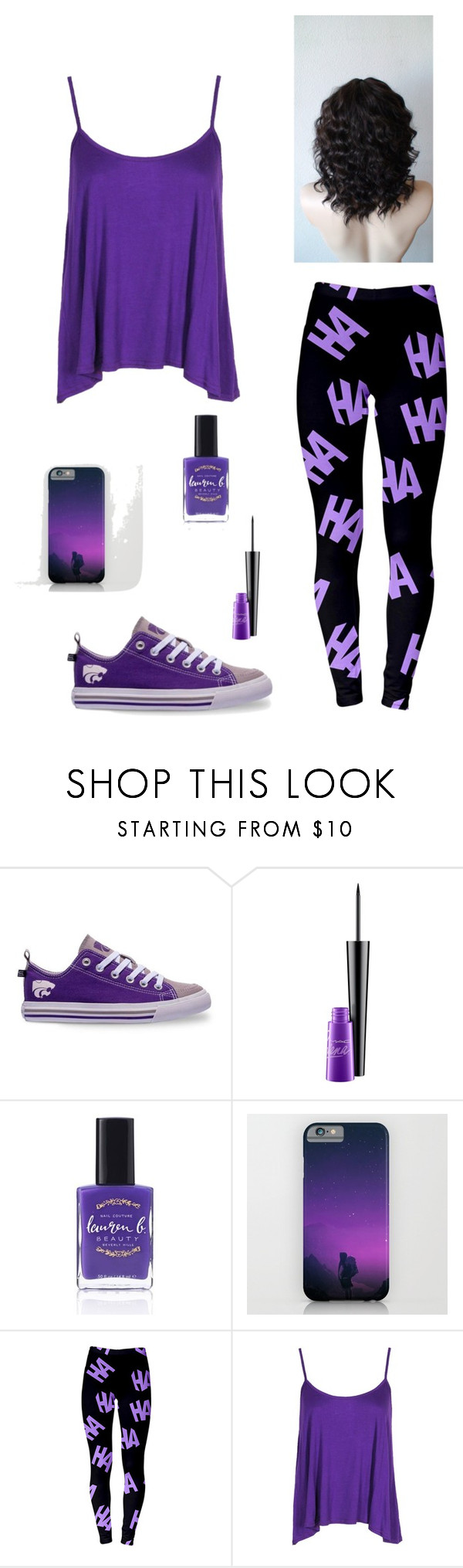 """""""The Purple Outfit"""" by helplessthing ❤ liked on Polyvore featuring Skicks, MAC Cosmetics, Lauren B. Beauty and Boohoo"""
