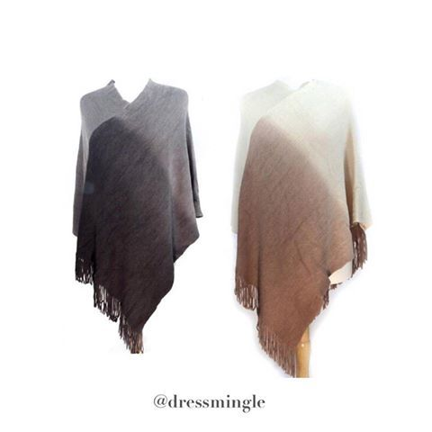 A wallet friendly poncho! Only $33! (One size fits all. Only one of each left. Comment for PayPal, excluding the .com) #dressmingle #ombreponcho #onesize #love #bestseller