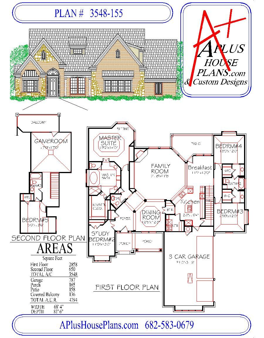 HOUSE PLAN 3548155, traditional french style front
