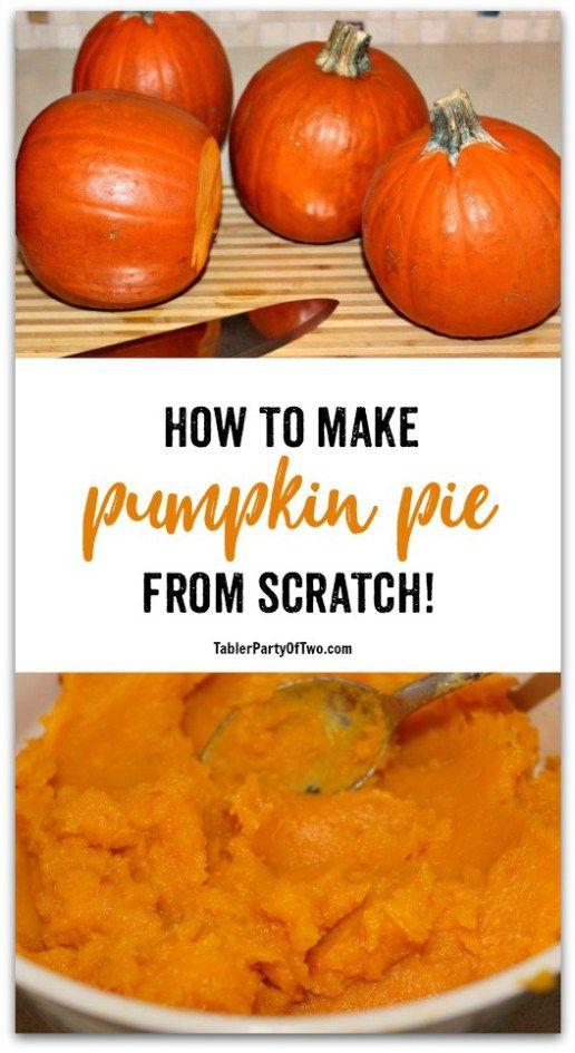 Homemade Pumpkin Puree for Scratch Pumpkin Pie #pumpkinpierecipe