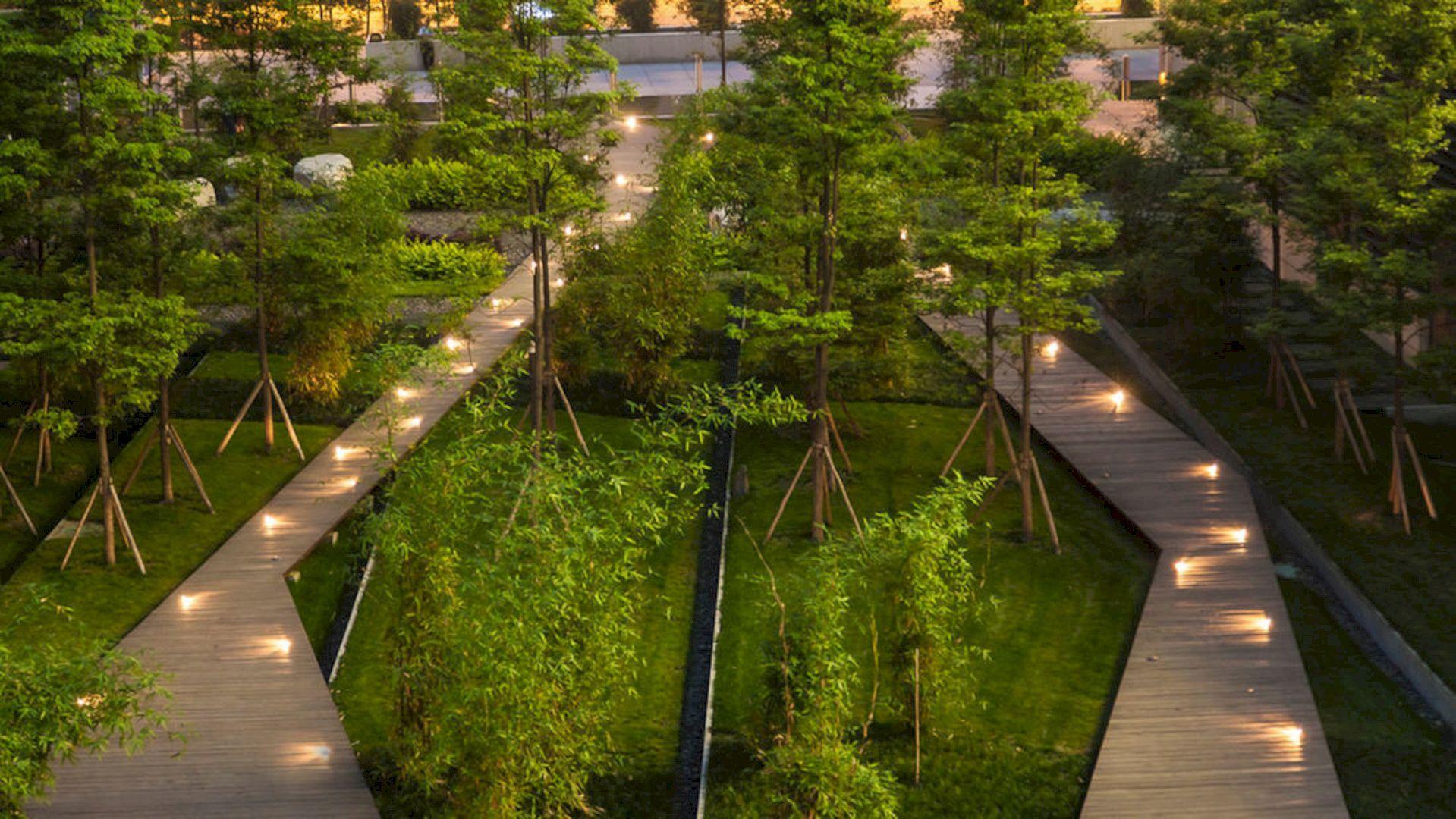 Symantec Chengdu A Modern Oasis Landscape In Dense Urban Location Urban Landscape Design Urban Landscape Landscape Design