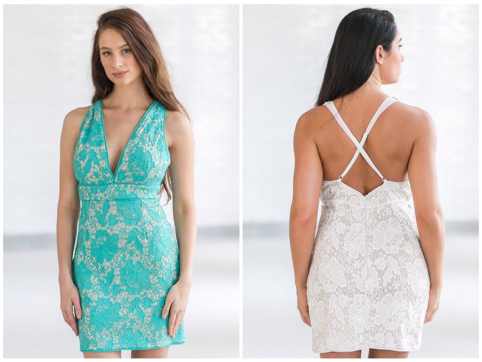 This lace cocktail dress is perfect for a night out with friends ...