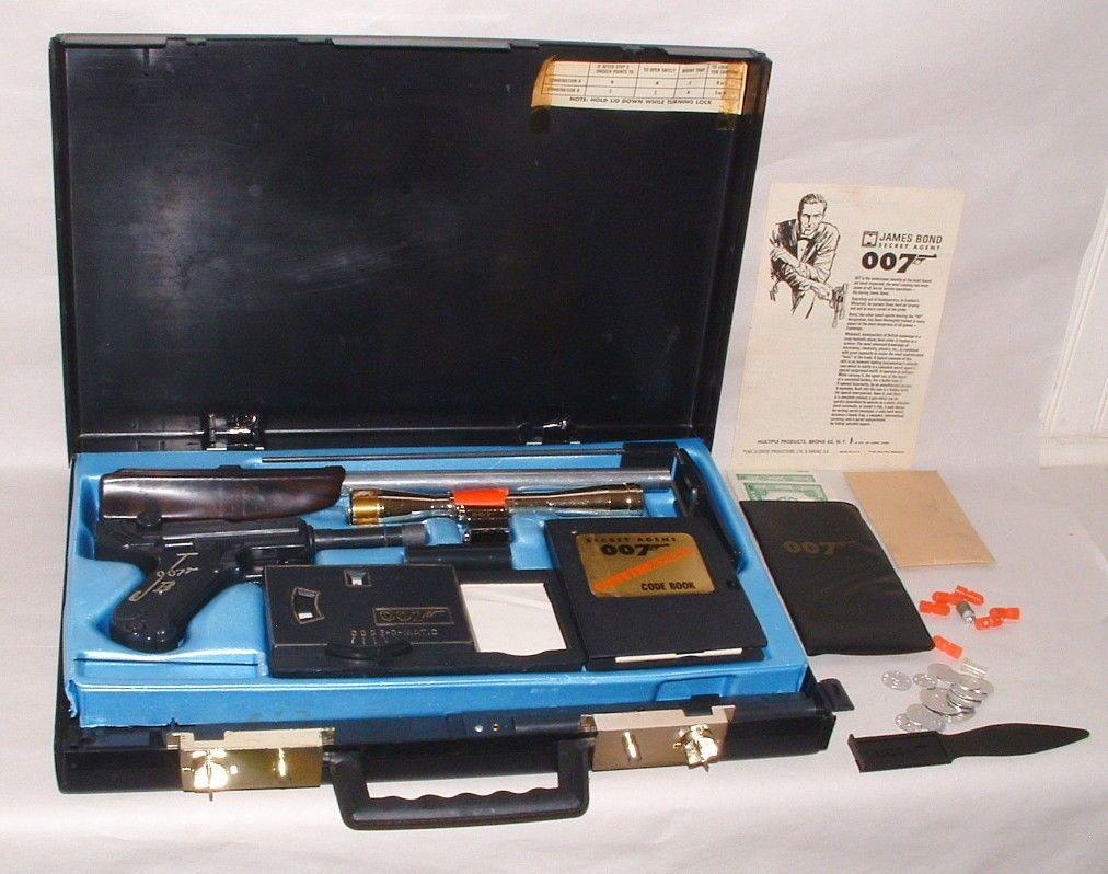 Kids Toys Action Figure: Multiple Toys James Bond 007 Attache Case Complete Secret