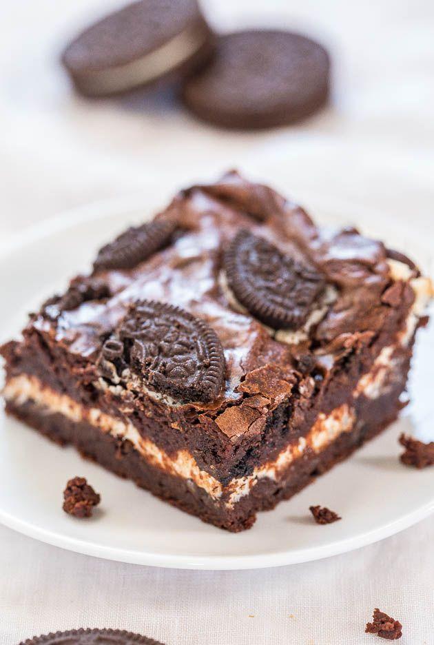 Oreo Cream Cheese Brownies Recipe – Averie Cooks