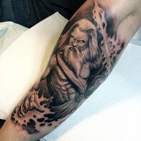 Zeus Hand Tattoo Tatuagem Na Mao Tatuagem Zeus Designs De Tatuagem