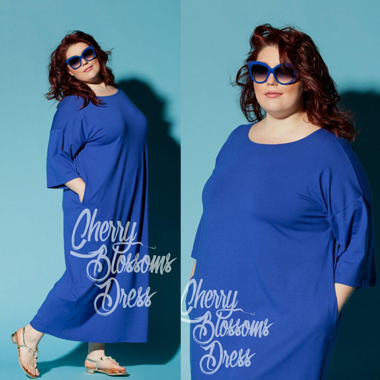 blue maxi dress/ plus size maxi dress/ plus size kaftan/ plus size