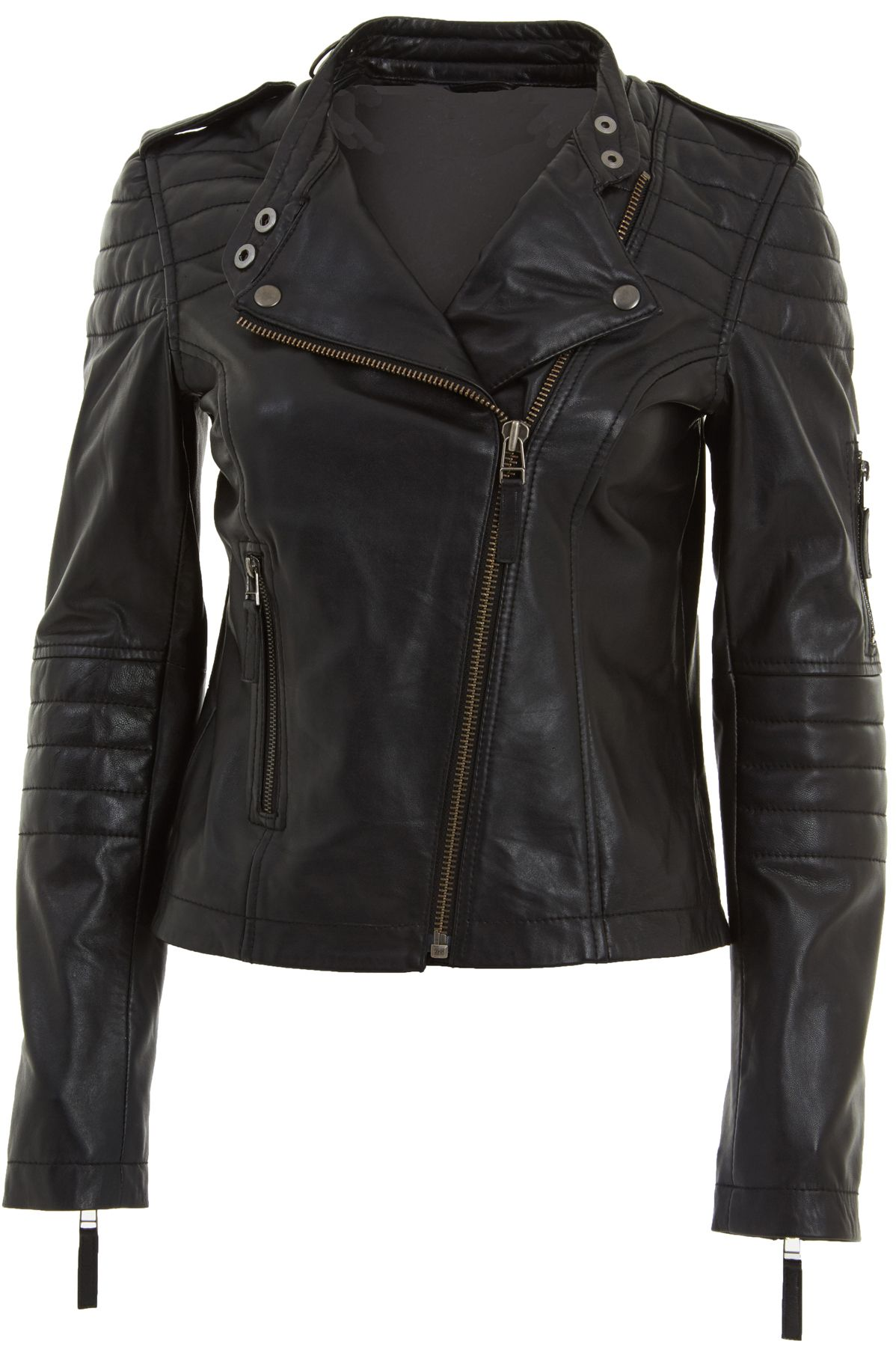Collection Black Biker Jacket Womens Pictures - Reikian