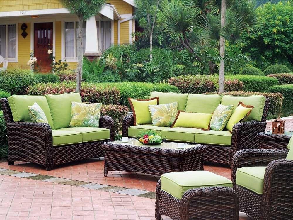 South Sea Rattan Saint Tropez Conversation Cushion Wicker Lounge